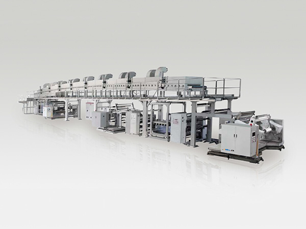 Rock paper coating production line
